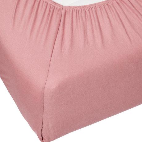 ESSENZA Hoeslaken Premium Jersey Fitted Sheet Percale Dusty Roze Katoen 180/200x200/220cm