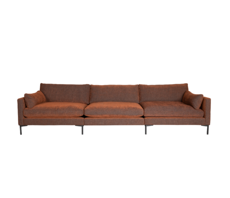 Zuiver Bank Summer 4,5-zits Terra Bruin Textiel 335x101x82cm