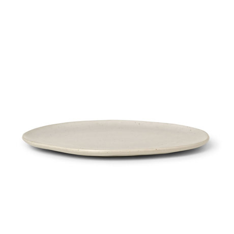 Ferm Living Plate Flow Speckle Medium Off White Porcelain Ø22x1,5cm