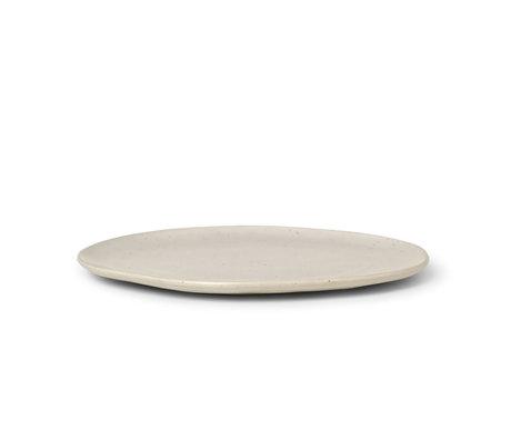 Ferm Living Plate Flow Speckle Large Off White Porcelain Ø27x1,5cm