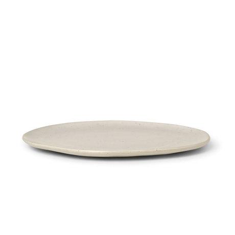 Ferm Living Teller Flow Speckle Large Off White Porzellan Ø27x1,5cm