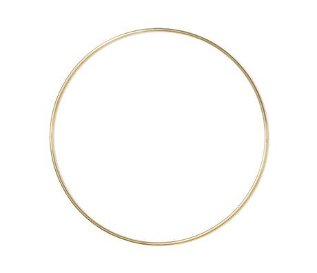 Ferm Living Wanddecoratie Frame Ring Large Goud Messing Ø65x65cm