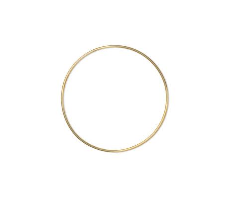 Ferm Living Wanddecoratie Frame Ring Small Goud Messing Ø45x45cm