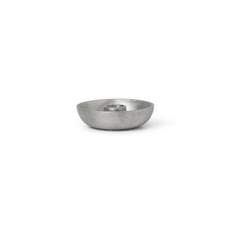 Ferm Living Kandelaar Bowl Single Zilver Aluminium Ø10x2,7cm