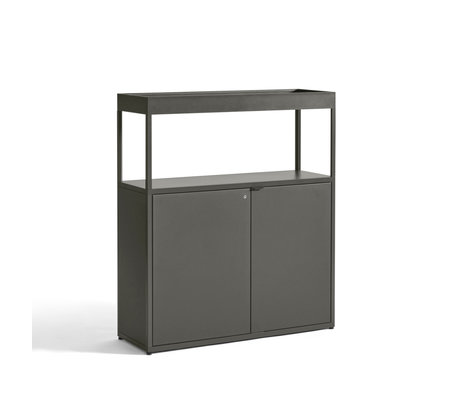 HAY Kast Comb. 204 incl. Wand Veiligheidsbeugel Groen Aluminium 100x34x115cm
