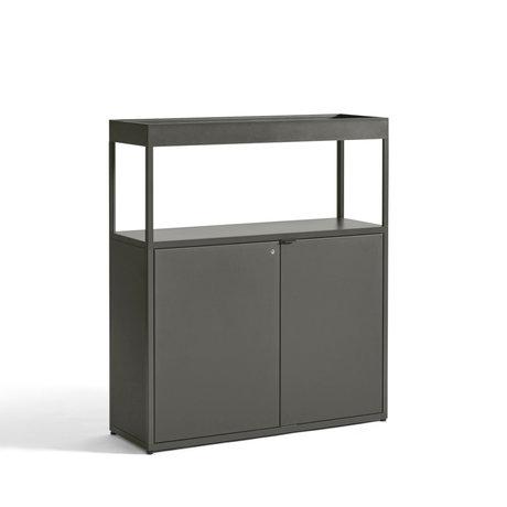 HAY Kast Comb. 204 Incl. Vloer Veiligheidsbeugel Groen Aluminium 100x34x115cm