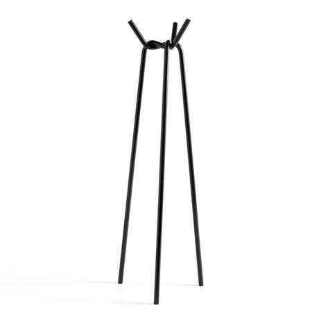 HAY Kapstok Knit Zwart Staal 49,5x50,5x161,5cm