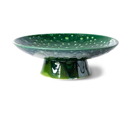 HK-living Schaal Dripping The Emeralds Groen Keramiek Ø30x10cm
