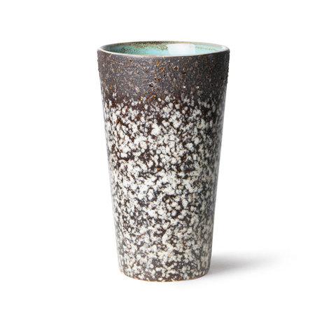 HK-living Latte Mok 70's Ceramics Mud Keramiek Ø7,5x13cm