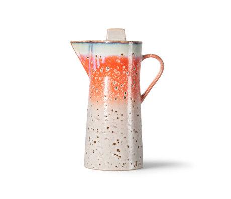 HK-living Koffiepot 70's Ceramics Asteroids Multicolor 10x13x23cm
