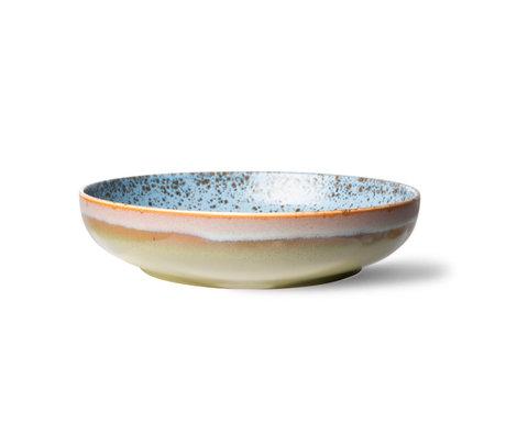 HK-living Schaal 70's Ceramics Peat Multicolor Keramiek Ø26,5x6cm