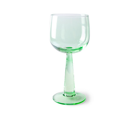 HK-living Wijnglazen The Emeralds Groen Glas Ø8x17,2cm Set van 4