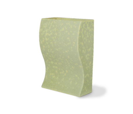 HK-living Vaas Ceramic Block Mat Groen Aardewerk 14,3x7,5x20,3cm