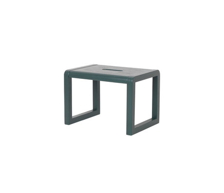 Ferm Living Stoel Little Architect donker groen hout 33x23x23cm