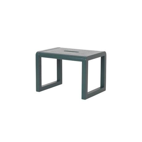 Ferm Living Chair Little Architect dark green wood 33x23x23cm