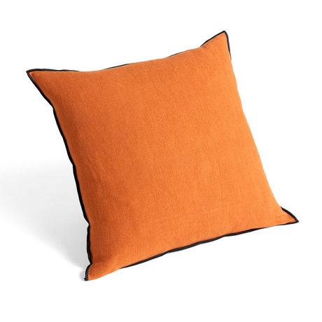 HAY Sierkussen Outline Oranje Zwart Textiel 50x50cm