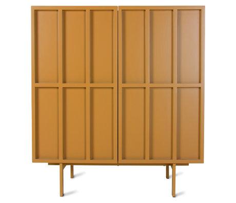 HK-living Dressoir Ginger Oranje Bruin Metaal 80x40x89cm