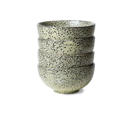 HK-living Schaal Gradient Ceramics Groen Keramiek Ø13x6,5cm