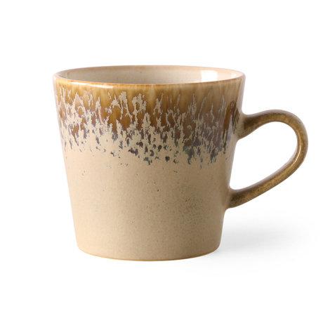 HK-living Cappuccino Mok 70s Bark Bruin Keramiek 12x9,5x8,5cm
