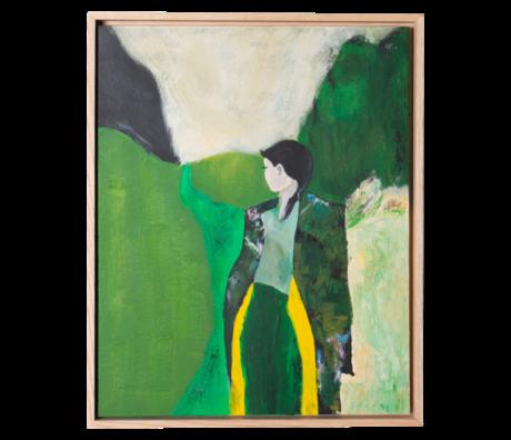 HK-living Kunstlijst Fresh Nature Multicolor Canvas Essenhout 43x4x53cm