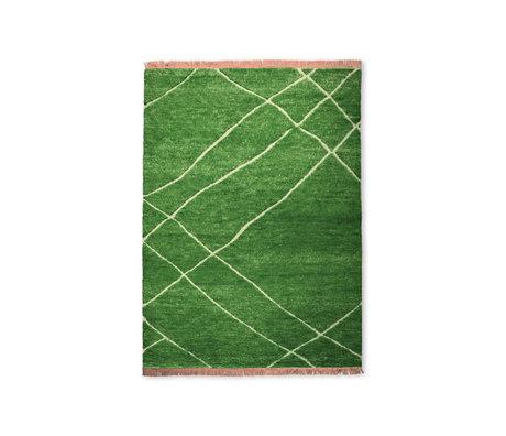 HK-living Vloerkleed Groen Nude Wol 180x280cm
