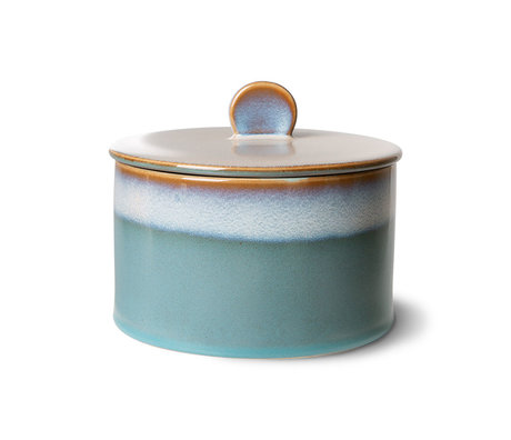 HK-living Coockie Jar 70's Dusk Multicolor Keramiek Ø17x14cm
