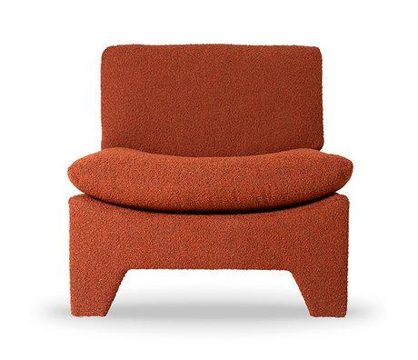 HK-living Fauteuil Retro Lounge Terra Polyester Katoen 82x84x76cm
