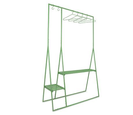 HK-living Kledingrek Met Hangers Groen Metaal 124x46x194cm