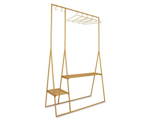 HK-living Kledingrek Met Hangers Oranje Metaal 124x46x194cm
