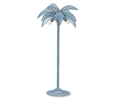 HK-living Vloerlamp Palm Grijs/Blauw Riet Ø70x150cm