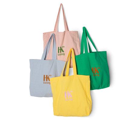 HK-living Shoppingbag Multicolor Katoen 38x11x40/68cm Set van 4