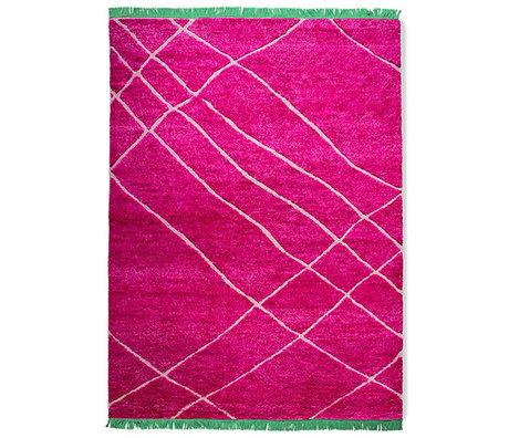 HK-living Vloerkleed Roze Groen Wol 260x360cm