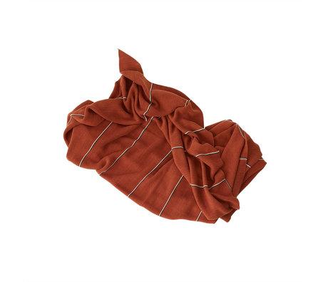 OYOY Woondeken Rivi Oranje Bruin Katoen 134x184cm