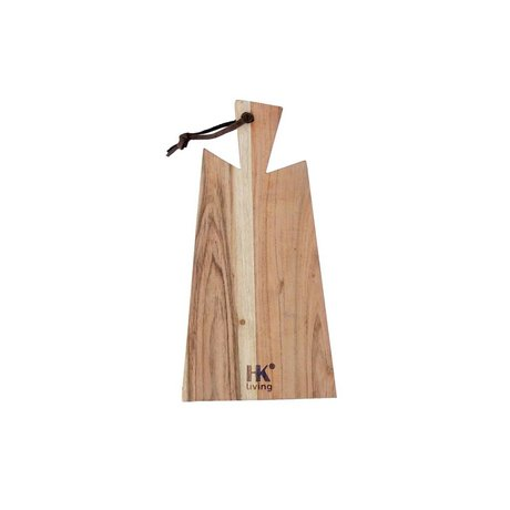 HK-living Breadboard acacia wood with leather string - S1