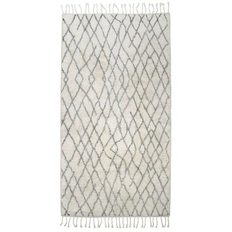 HK-living Carpet mat large checkered 90x175cm