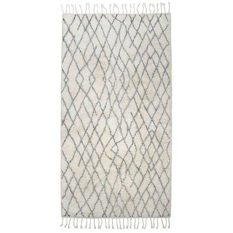 HK-living Vloerkleed badmat groot geruit 90x175cm