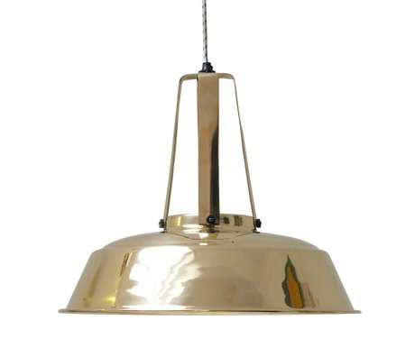 HK-living Hanglamp workshop brass messing LARGE, industriële lamp 45x45x40cm