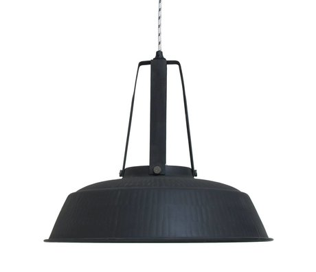HK-living Pendant workshop black mat LARGE rustic, industrial lamp 45x45x40cm
