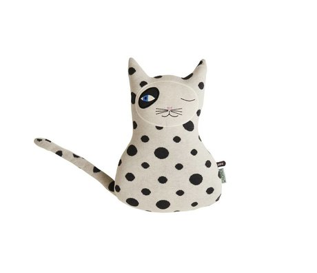 OYOY Cuddly cat Zorro black white 27x14x41cm