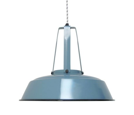 HK-living Pendelleuchte Industrie-Workshop blau blau LARGE, industrielle Lampe 45x45x40cm