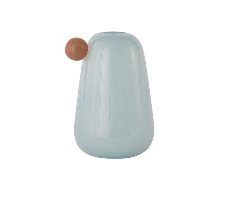 OYOY Vaas Inka Small Lichtblauw Glas Ø12,5x20cm