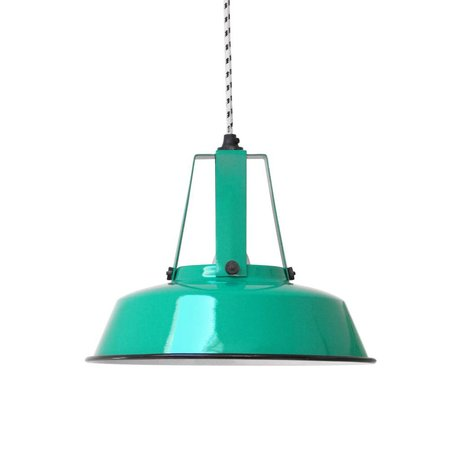 HK-living Pendant light green jade Workshop M 29,5 x29, 5x24cm