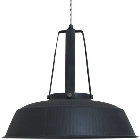 HK-living Pendant workshop black mat rustic EXTRA LARGE metal, industrial lamp