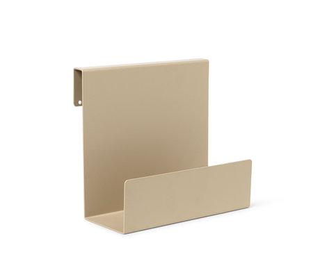 Ferm Living Bed Shelf Junior Sill Cashmere Biege Powder Coated Steel 20.2x11.2x20.2cm
