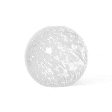 Ferm Living Lampenkap Casca Sphere Wit Glas ø25x23,6cm