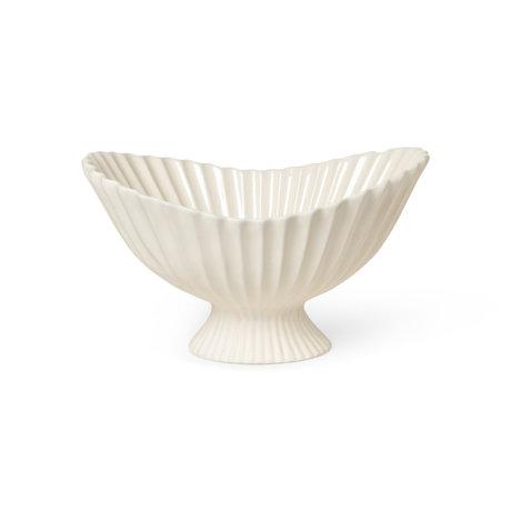 Ferm Living Schaal Fountain Centrepiece Gebroken Wit Geglazuurd Steen 30,5x41x24cm