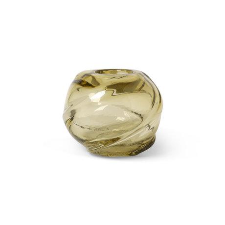 Ferm Living Vaas Water Swirl Round Lichtgeel Glas ø21x16cm