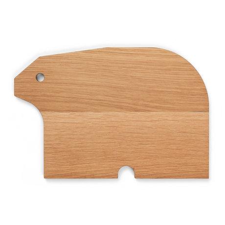 Ferm Living Kinderbord Bear Naturel Eiken Hout 15,5x23x1,2cm