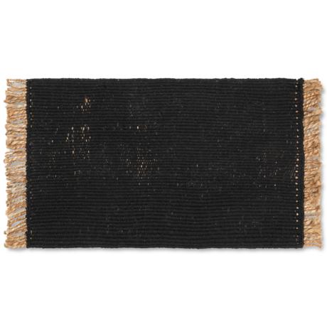 Ferm Living Floor Mat Block Black Jute 80x50cm