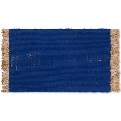 Ferm Living Floor Mat Block Blue Jute 80x50cm